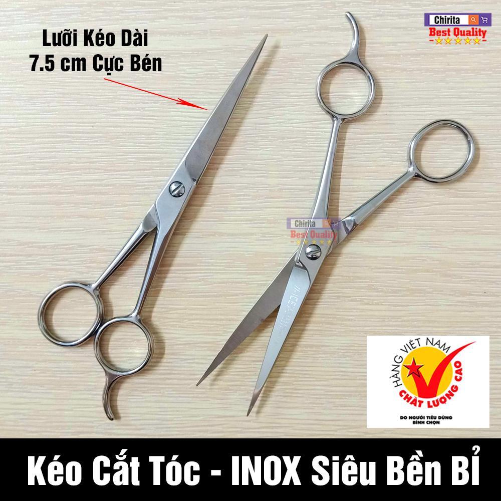 Kéo Cắt Tóc INOX Cao Cấp - Lưỡi Kéo 7.5 inch Tỉa Tóc Siêu Bén - Tạo Kiểu Tóc Chuyên Nghiệp 701-7/2