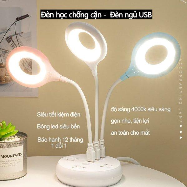 Bảng giá Đèn học chống cận USB Kiêm Đèn Ngủ  - Đèn Led Siêu Sáng - Siêu Tiết Kiệm Điện, Siêu Bền, Tiện Lợi, Nhỏ Gọn - UL ( Không kèm đế )