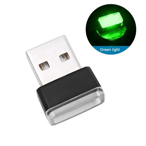1 Đèn Led USB Nội Thất Xe Hơi, Ô tô, đèn led mini ánh sáng xanh lá