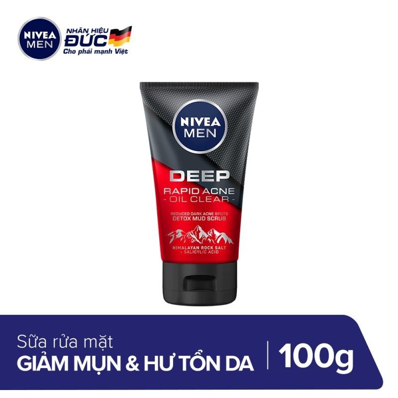 Sữa rửa mặt sạch sâu Nivea Men Deep Himalaya 100g