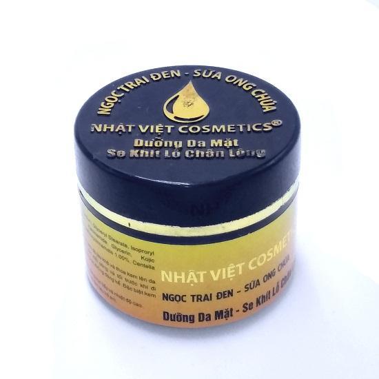 Kem dưỡng da mặt - Se khít lỗ chân lông Ngọc Trai Đen - Sữa Ong Chúa Nhật Việt 25g (Vàng - Đen)