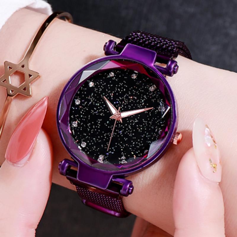 Đồng hồ thời trang mặt pha lê đính đá lấp lánh dành cho nữ thiết kế thanh lịch chất liệu không thấm nước GEDI
