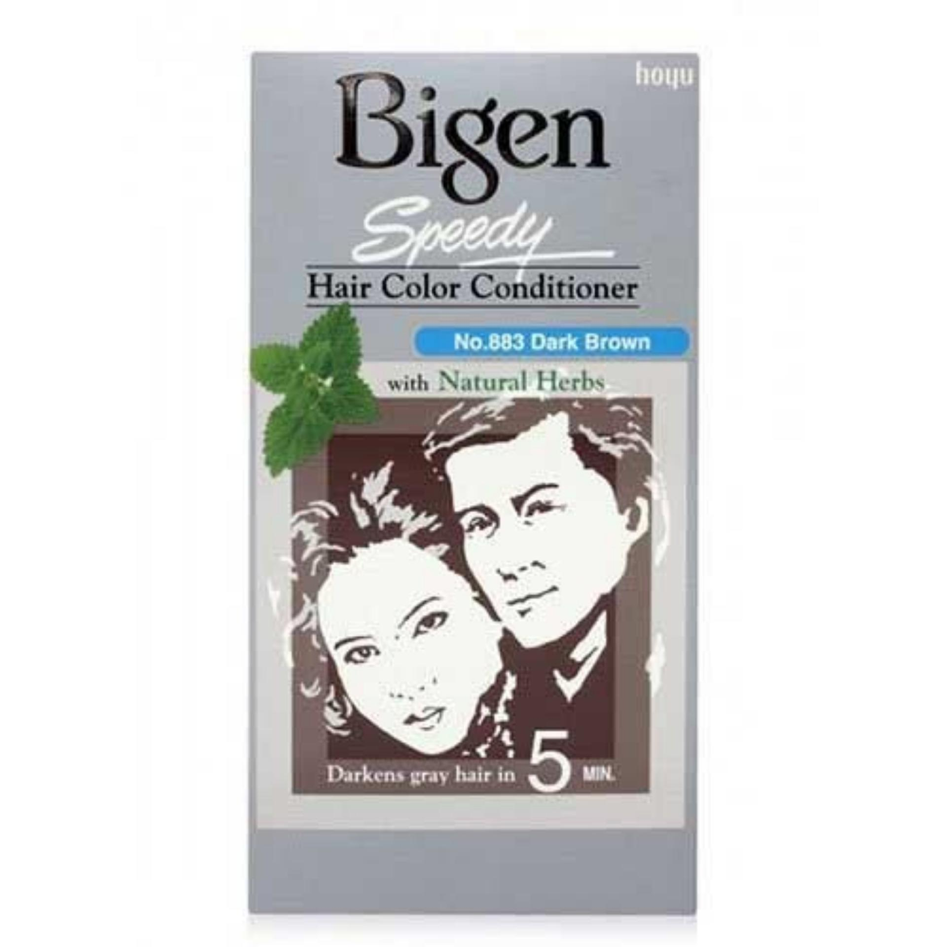 Thuốc Nhuộm Bigen Dark brown Nâu Sẫm #883 – Japan Hàng chính hãng