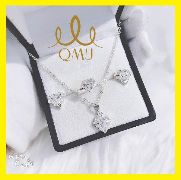 Bộ bạc đẹp QMJ THIÊN KIM với cách sáng tạo 3D sang chảnh bạc 925 cao cấp, bạc chuẩn 100%- QB016