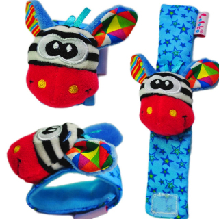 Vòng tay trẻ em bằng vải bông có lục lạc leng keng hình thú 3D lelebe ngộ nghĩnh vui nhộn cho bé BBShine DC028 thumbnail