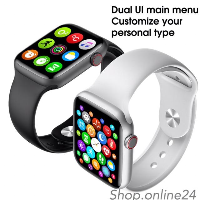 [ SIÊU SALE 2021 ] Đồng Hồ Thông Minh W46 Cao Cấp Kết Nối Bluetooth 5.0 Màn Hình Tràn Viền 1.75 Inch Chống Nước Nhẹ IP68 Thay Đổi Ảnh Nền, Phát Hiện Nhịp Tim, Thông Báo, Hiển Thị Tin Nhắn, Facebook Messenger, Wechat Và Thông Tin Khác