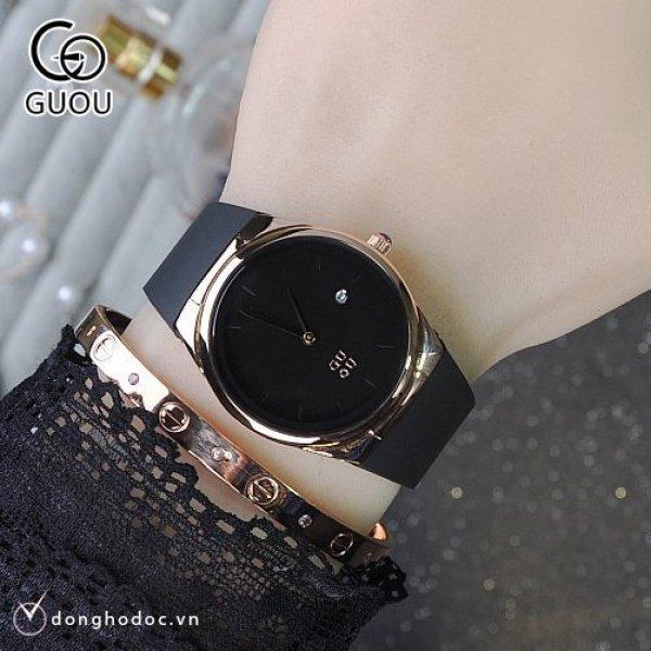 Đồng hồ Nữ GUOU EBELL Dây Silicone Cao Cấp Chống Nước Chống Phai Màu - Đồng hồ nữ giá rẻ Đồng hồ nữ thời trang Đồng hồ nữ đẹp ĐẹpSang trọngĐẳng cấp Bền Giá Sốc Đồng hồ nữ cao cấp Đồng hồ nữ kính bán chạy