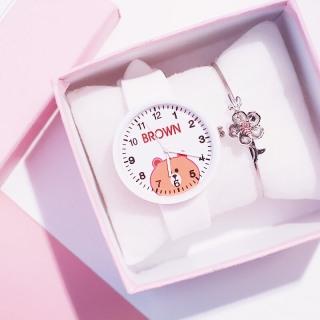 Đồng hồ thời trang nam nữ Candycat Gấu Brown dây silicon siêu ngộ nghĩnh K856 thumbnail