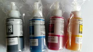 [HCM]Mực 1 bộ 4 màu hàn quốc cho Canon G1000 g2000 1010 2010 g3000 4000 thumbnail