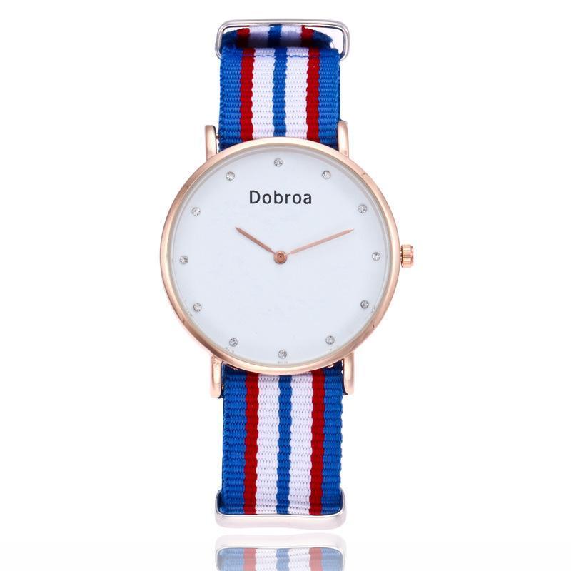 Đồng hồ thời trang nữ dây vải nato mặt đính đá Geneva PKHRGE061 (39 mm)