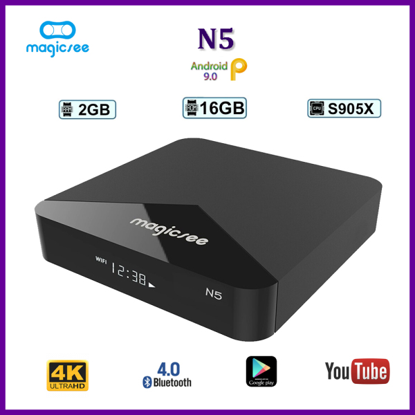 Android Tivi Box Magicee N5 - Ram 2GB, Rom 16GB, Single Wifi - Hỗ Trợ Tìm Kiếm Bằng Giọng Nói