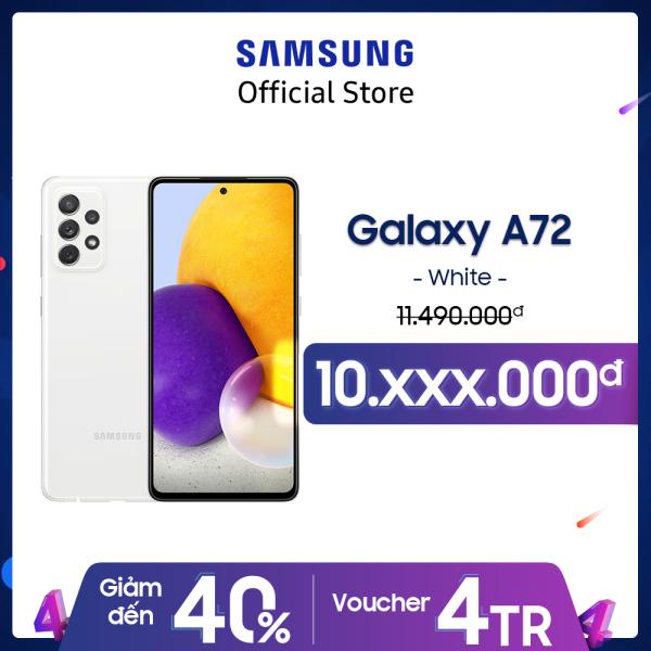 Điện thoại Samsung Galaxy A72 (8GB/256GB) - Camera đỉnh 64MP chống rung - Chip Snapdragon 720