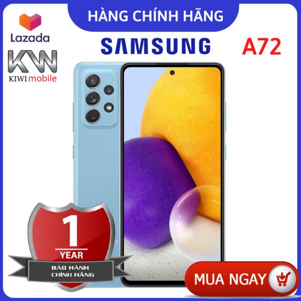 Điện thoại Samsung Galaxy A72, màn Supper Amoled hiển thị sắc nét, pin khỏe 5000mAh, chip đời cao snapdragon 720G chiến mọi loại game, camera sắc nét-hàng chính hãng-KIWI MOBILE