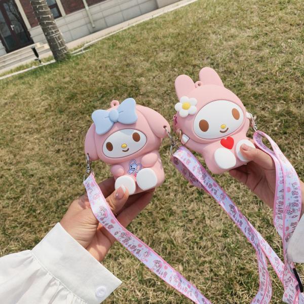 Giá bán Túi đeo chéo cho bé gái mini ZAKUDO Silicon hình HELLO KITTY dễ thương, ngộ nghĩnh, thời trang phong cách Hàn Quốc TX18