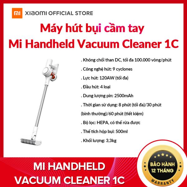 Máy hút bụi cầm tay Xiaomi Mi Handheld Vacuum Cleaner 1C - Sức hút 120Airwatt -2300kPa, Pin 2500 mAH, tốc độ 100.000 vòng - phút - Hàng chính hãng - BH 12 Tháng