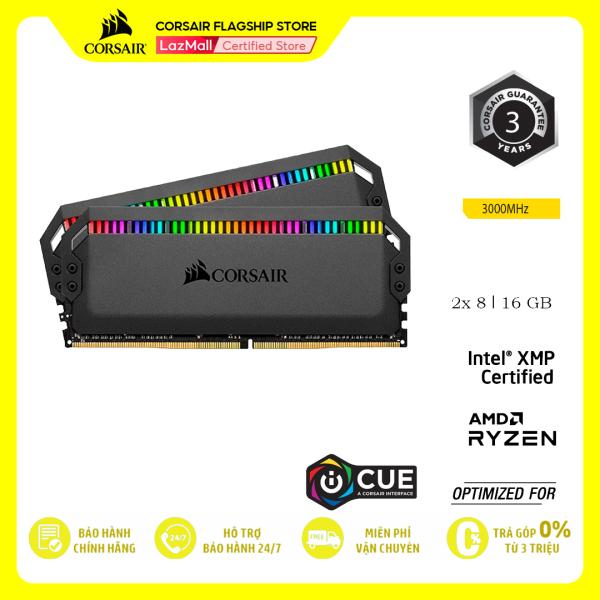 Bảng giá RAM PC CORSAIR DOMINATOR PLATINUM RGB 16GB DDR4 2x8GB 3000MHz CMT16GX4M2C3000C15 Phong Vũ