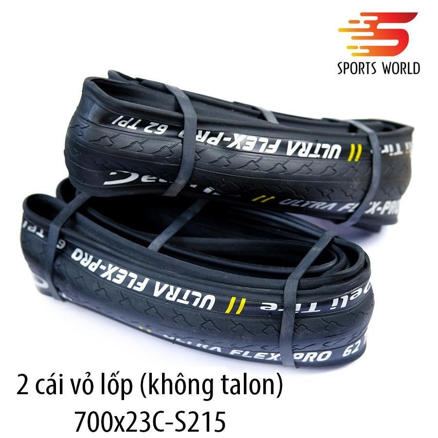 Mua Vỏ xe đạp, lốp xe đạp không talon (Gồm 2 cái) 700x23C SA-215 DELI-TIRE ULTRA FLEX-PRO  -- SPORTS WORLD SHOP