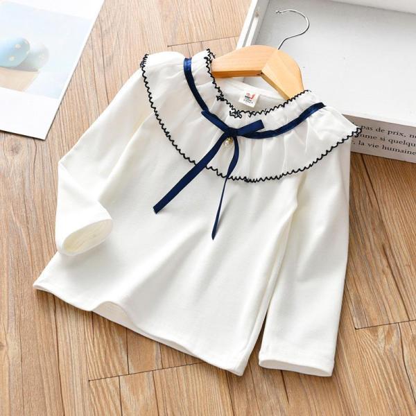 Giá bán Áo thun bé gái 3-8 tuổi phối cổ áo công chúa xinh xắn BBShine - A003