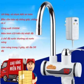 Máy nước nóng trực tiếp tại vòi-Cơ chế làm nóng cực nhanh có nước nóng chỉ sau 3s,chống giật,chống rò rỉ-Sale sốc 50% ,giao hàng toàn quốc bởi May Store. thumbnail