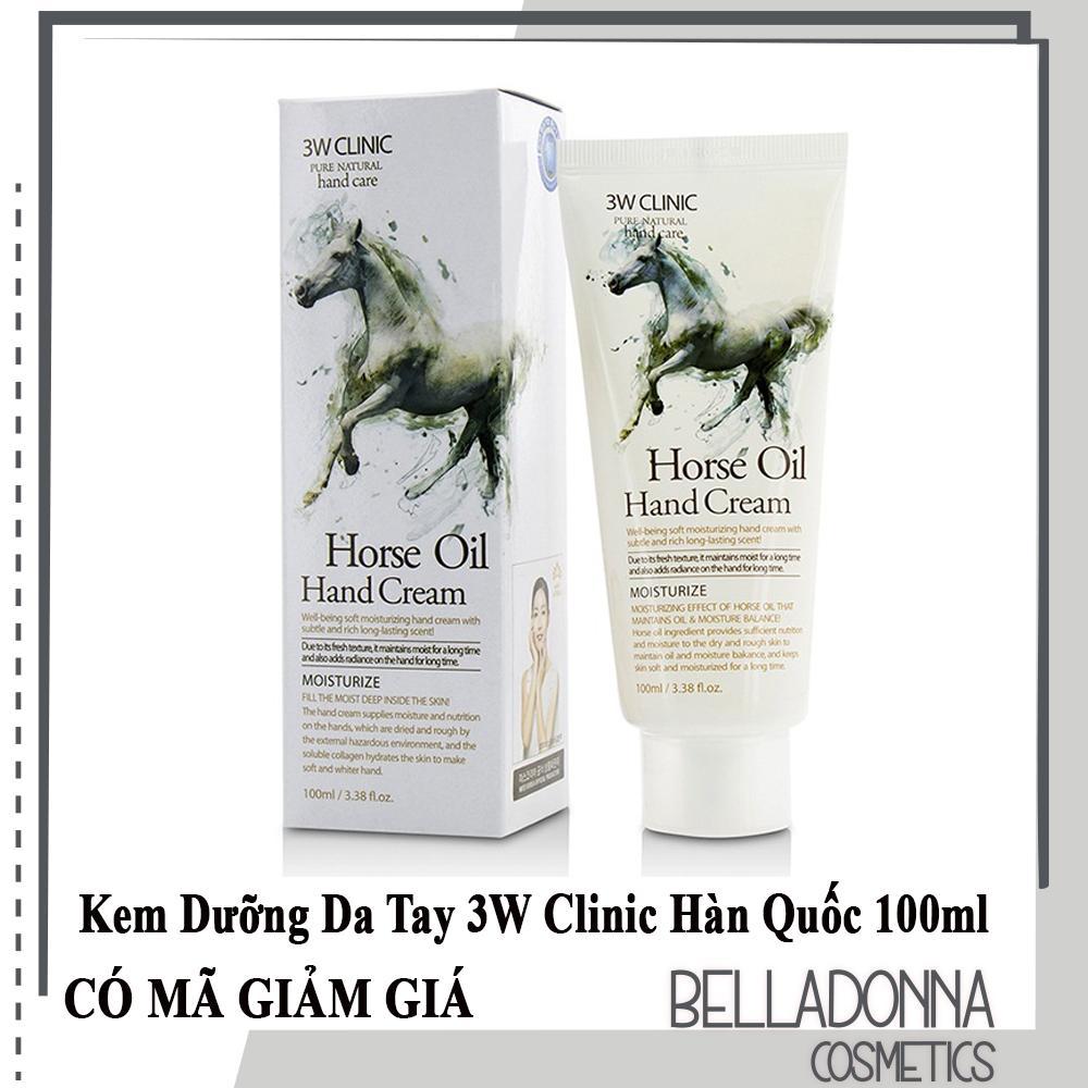 Kem dưỡng da tay từ dầu ngựa 3W Clinic Horse Oil Hand Cream 100ml