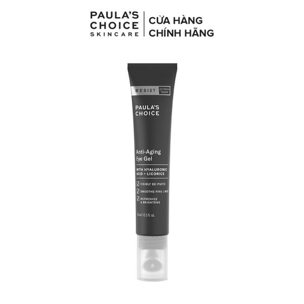 Gel chống nhăn vùng mắt kèm đầu massage chuyên dụng ngăn ngừa quầng thâm Paula's Choice Resist Anti-Aging Eye Gel 15ml 2140