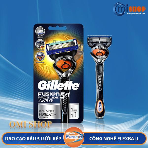 Dao cạo râu 5 lưỡi kép Gillette Fusion 5+1 Proglide, hàng nội địa Nhật Bản nhập khẩu