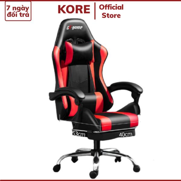 Ghế gaming bọc da cao cấp GE-Game, Ghế chơi game có hỗ trợ để chân, Ghế Xoay Văn Phòng giá rẻ