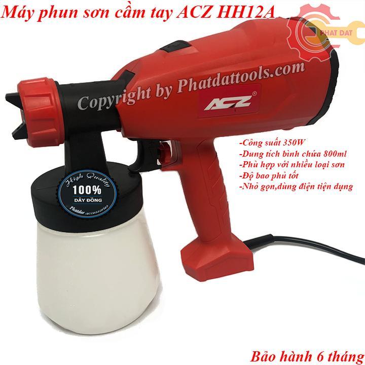 Máy phun sơn cầm tay đa năng ACZ Model HH12A-Công suất 350W-Dung tích bình 800ml