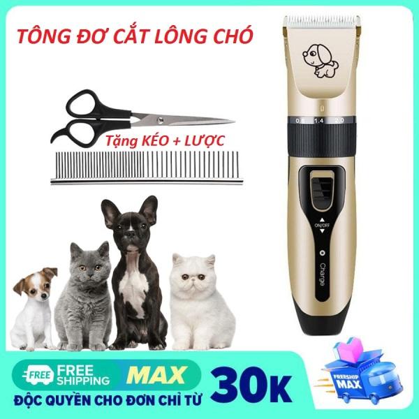 [ Tặng Lược Và Kéo Cắt ]Tông đơ cắt lông cho chó, thú cưng, mèo, Pet-tông đơ cạo lông, tỉa lông chó mèo chuyên nghiệp
