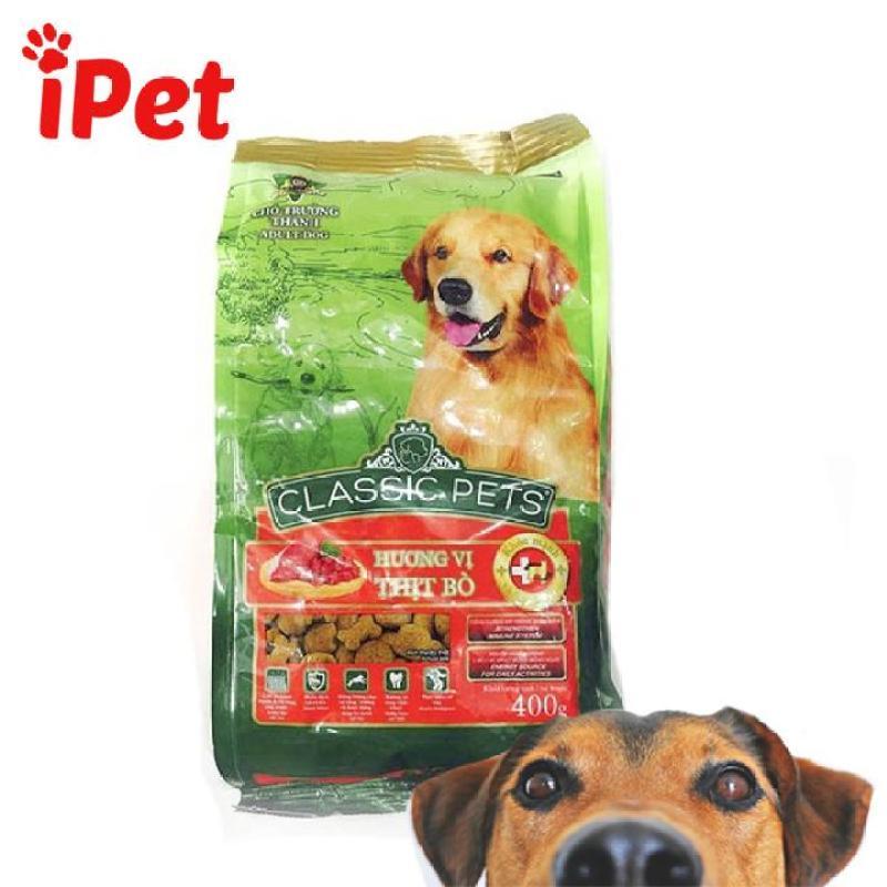 Thức Ăn Cho Chó Lớn Vị Thịt Bò Classic Adult 400g - iPet Shop