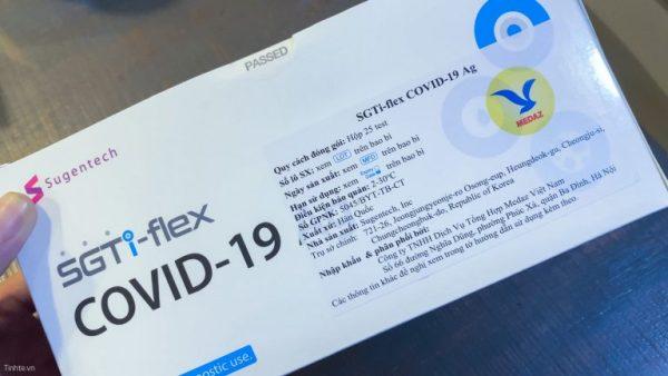 Bộ KIT xét nghiệm nhanh SGTi-flex C O V I D 19 Ag S u g e n tech – Hàn Quốc