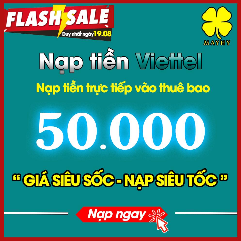 Nạp tiền Viettel 50.000 [Nạp trực tiếp vào thuê bao trả trước]