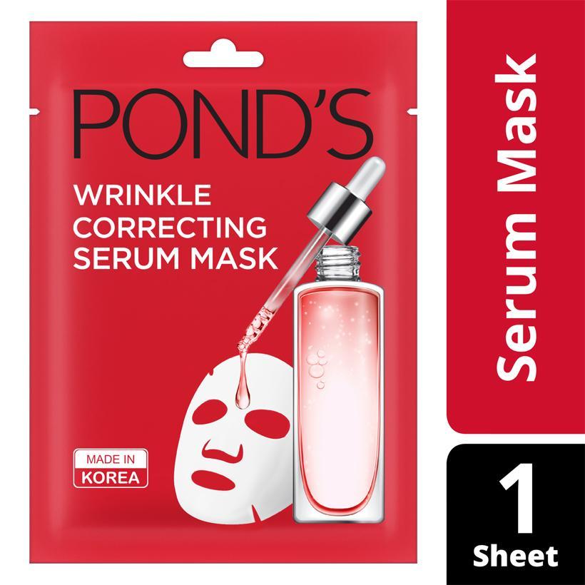 Mặt Nạ Tinh Chất Ngăn Ngừa Lão Hoá Ponds Wrinkle Correcting Serum Mask (21ml)