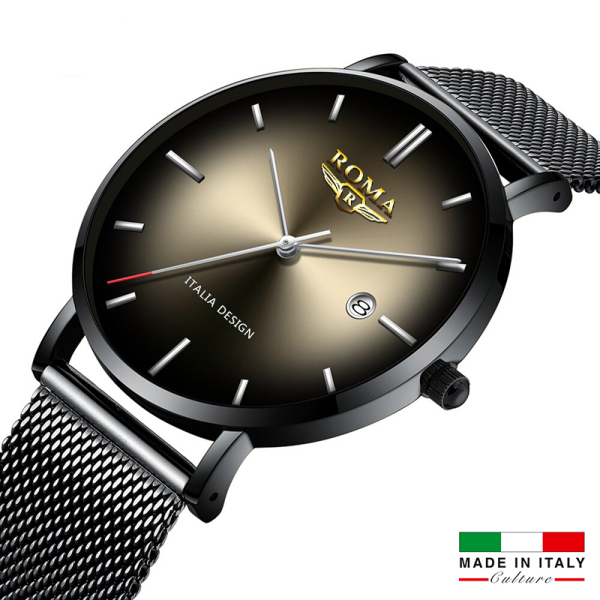 Đồng Hồ Nam ROMA ITALIA Mặt Chuyển Màu Nghệ Thuật - Dây Titanium Siêu Bền - Chống Nước Tốt bán chạy