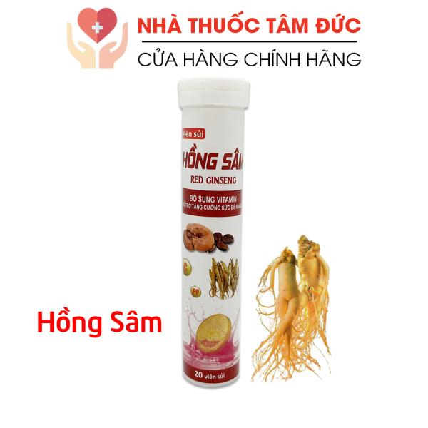 [HCM]Viên sủi Hồng sâm Red Ginseng bổ sung vitamin C B PP tăng cường sức đề kháng sức khỏe - 20 viên