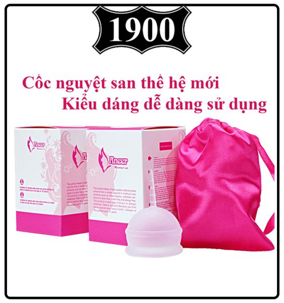 Cốc nguyệt san AneerCup nhập khẩu chính hãng 100% Silicone y tế mềm chống tràn đạt tiêu chuẩn FDA