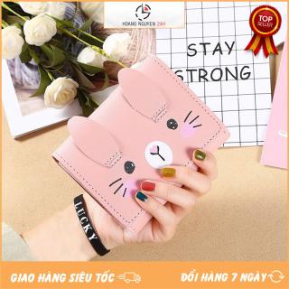 Ví Nữ Mini Cầm Tay Mèo Má Hồng Dễ Thương V397 Nhiều Ngăn Đựng Tiền Thẻ Cực Đẹp thumbnail