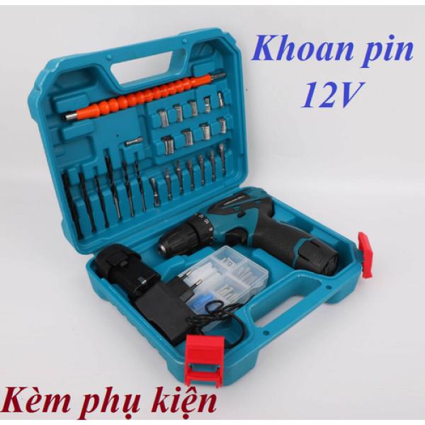 Máy khoan pin 12V đủ đồ-Bảo hành 6 tháng