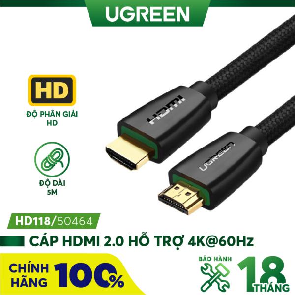Bảng giá Cáp HDMI 2.0 hỗ trợ 3D 4K dài từ 1-15m UGREEN HD118 - Hãng phân phối chính thức Phong Vũ