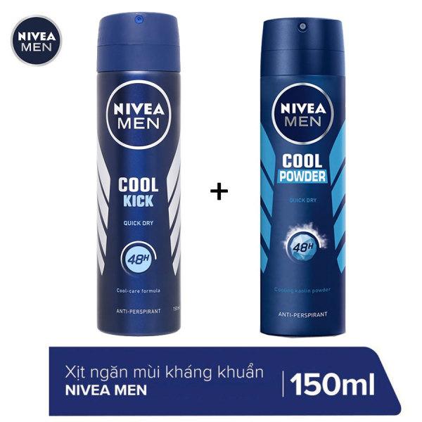 COMBO 2 CHAI XỊT KHỬ MÙI NIVEA MEN 150ML/CHAI