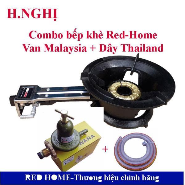 COMBO Bếp khè RED-HOME-168C +  Van Sawana( SW-999A ), Dây cao áp Thailand