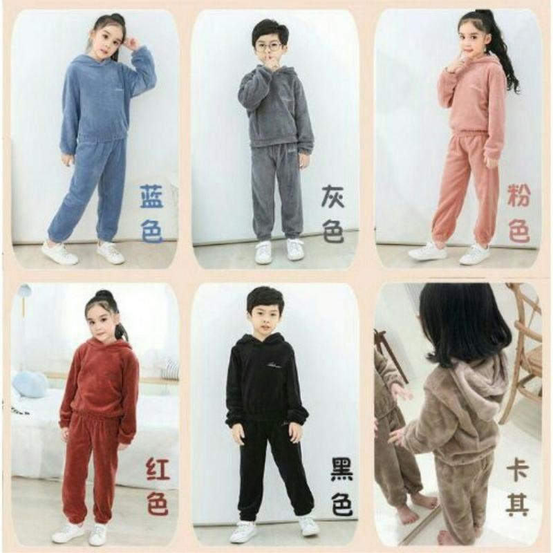 Nơi bán Set quần áo lông cừu cho mẹ và bé ngày đông Bộ quần áo Dstudio - Q5689