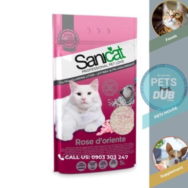 Cát vệ sinh cho mèo SaniCat Hoa Hồng (5 Lít) (PETs dub)