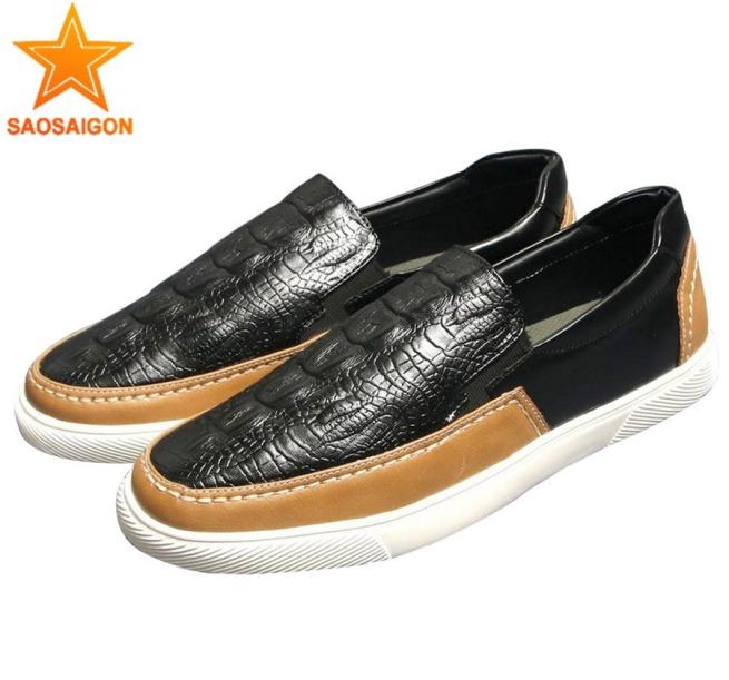 Giày lười nam giả da cá sấu thân nhẹ đế chống trượt bền đẹp SG574 Saosaigon giá rẻ