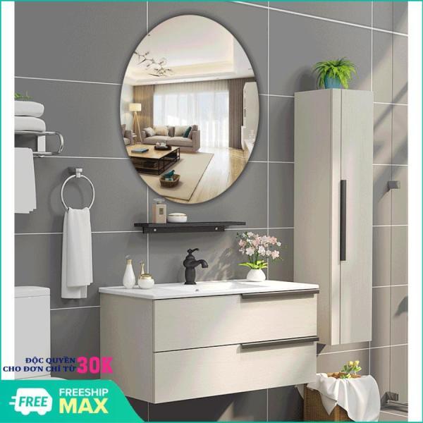 [ HÀNG MỚI 2020 ] Gương dán tường, gương dán tường hình bầu dục, kích thước 42x27cm. gương nhà tắm giá rẻ