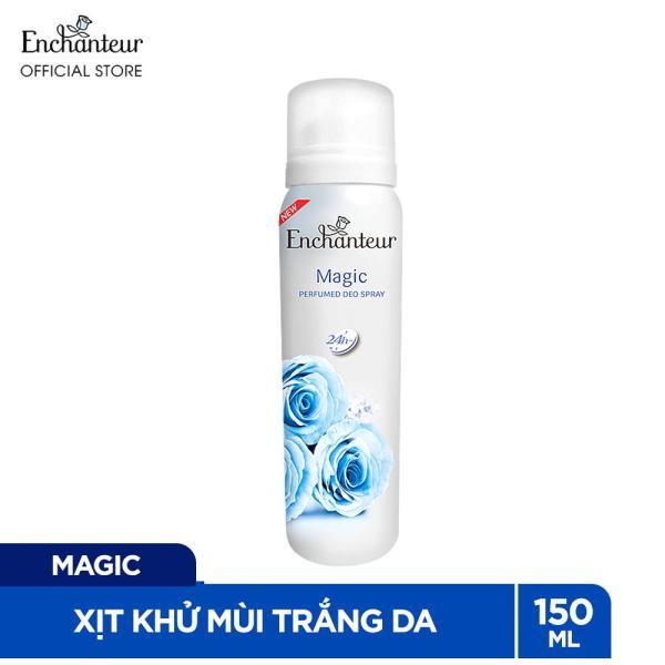 [Voucher 30K] Xịt khử mùi nước hoa Enchanteur Magic lôi cuốn quyến rũ ngăn mồ hôi & mùi cơ thể 150ml