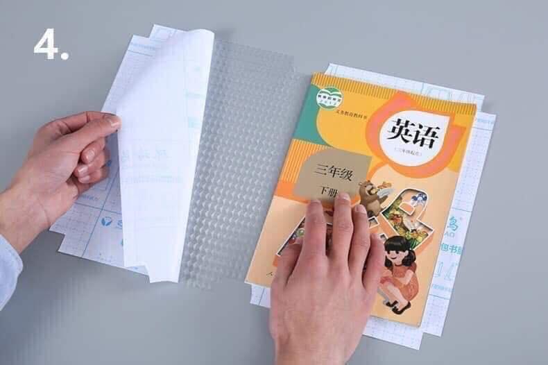 Mua Combo 20 miếng Decal bọc sách vở chống nước ,chống rách cho học sinh