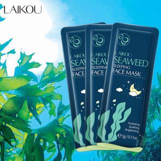 [GIÁ DÙNG THỬ] 3 miếng Mặt nạ dưỡng da tinh chất tảo biển LAIKOU mặt nạ ngủ rong biển tái tạo phục hồi da mặt nạ chống lão hóa da mặt nạ ngủ dưỡng ẩm TK-MN212 thumbnail