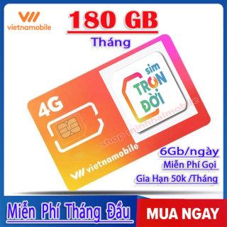 [HCM] Sim 4G Vietnammobile Trọn Đời [ 6G Ngày ] - Miễn Phí 180Gb Tháng Đầu thumbnail