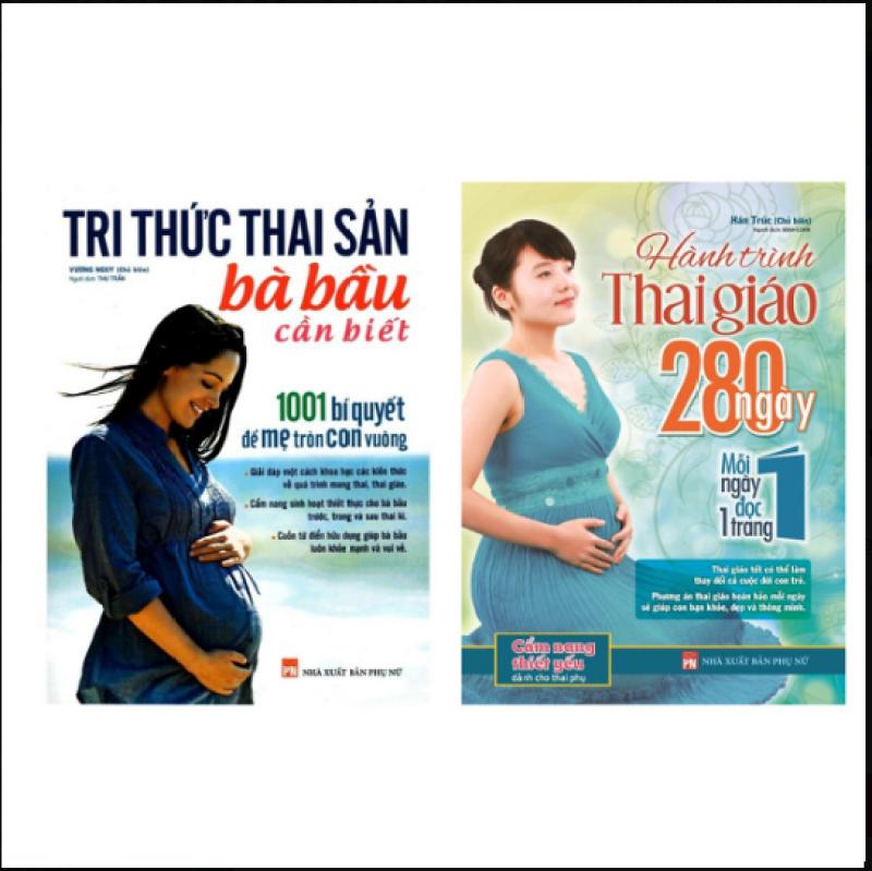 Combo Sách Dành Cho Mẹ Bầu: Tri Thức Thai Sản Bà Bầu Cần Biết + Hành Trình Thai Giáo 280 Ngày (Tặng kèm bút Gel nước + bookmark dấu trang)